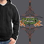 Freaks of Nature Hoodie - Pinstripe Oversized Embroidery With Fabric Inserts